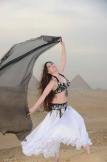 Belly dance costumes - 2 pc. bra+belt sets