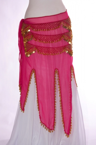 Long chiffon - belly dance belts
