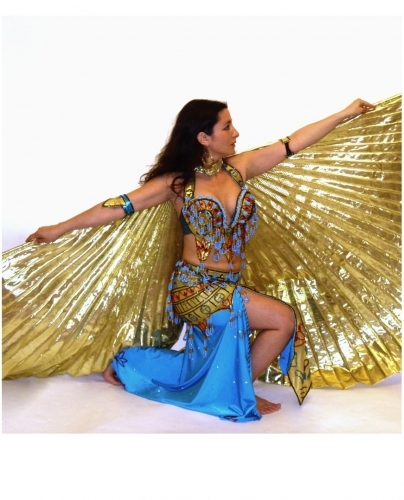 Metallic isis wings for belly dance