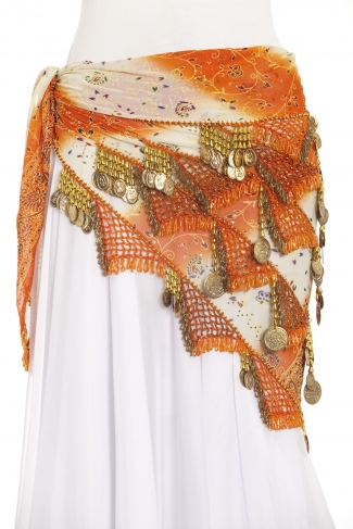 Large chiffon triangle - belly dance belts