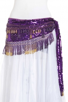 Sequinned net crochet - belly dance belts