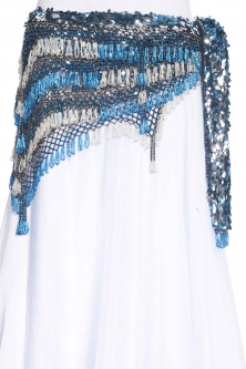 Sequinned net rich crochet - belly dance belts