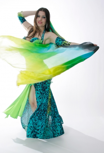 Silk veils for belly dance