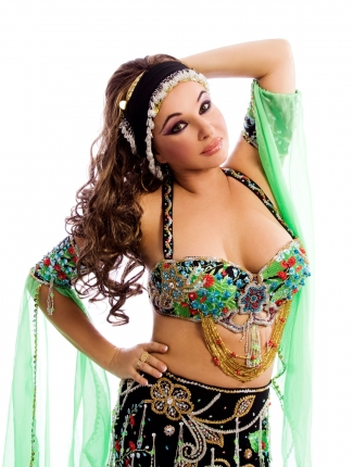 Unique designer belly dance costumes