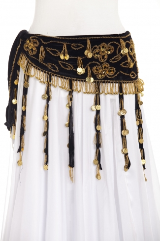 Velvet tassel - belly dance belts