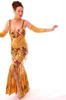 Belly dance cabaret dress - Liquid Honey