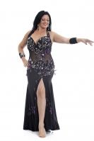 Belly dance cabaret dress - Queen of the Night