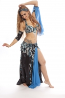 Belly dance cabaret costume - Deep Sea