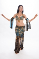 Belly dance cabaret costume -  River