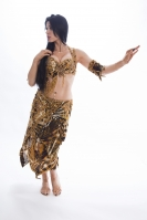 Belly dance cabaret costume -  Jewel of the Jungle