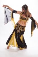 Belly dance cabaret costume - WORN ONCE!