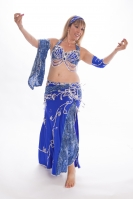 Belly dance cabaret costume - Ocean Spell