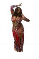 Belly dance cabaret costume - Passionate Beauty