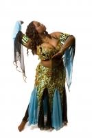 Belly dance cabaret costume - Cosmic Light