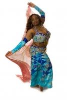 Belly dance cabaret costume - Blue Sensation 2!