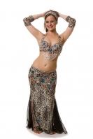 Belly dance cabaret costume - Snow Leopard
