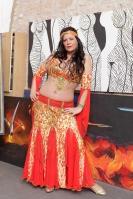 Belly dance cabaret costume - Firecracker!