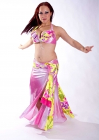 Belly dance cabaret costume - Flower Girl