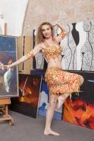 Belly dance cabaret costume - Sun Dance