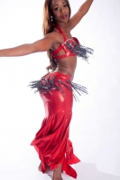 Belly dance cabaret costume - Red Rush