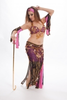 Belly dance cabaret costume - Lady Pink
