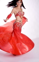 Belly dance cabaret costume - Rising Star
