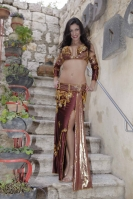 Belly dance cabaret costume - Stunner!