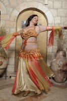 Belly dance cabaret costume - Sun Swirl