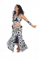 Belly dance cabaret costume - Polka Enchantment