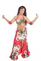 Belly dance cabaret costume - Floral Sensation