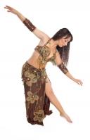 Belly dance cabaret costume - Golden Sugar