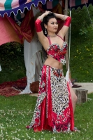Belly dance cabaret costume - Scarlet Wilderness