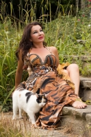 Belly dance cabaret costume - Lady Tiger