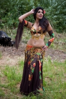 Belly dance cabaret costume - Flowers and Chocolates