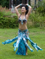 Belly dance cabaret costume - Oceanic Allure