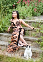 Belly dance cabaret costume - Fierce Purrrfection