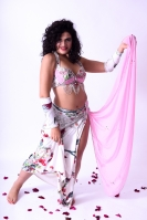 Belly dance cabaret costume - Delicate Delight