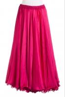 Dark pink silk belly dance skirt