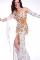 Belly dance cabaret costume - White Dress Galore