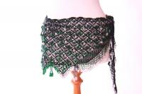 Belly dance fully crocheted beaded belt
