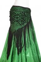 Belly dance crocheted tribal/flamenco wrap - black