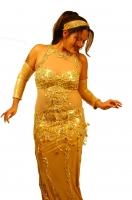 Belly dance cabaret dress - Golden Girl