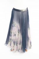 Belly dance fine silk chiffon skirt