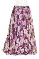 Belly dance fine silk chiffon skirt - flowerbomb