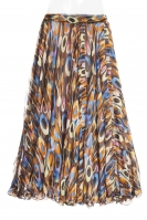 Belly dance fine silk chiffon skirt - multi funk