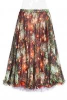 Belly dance fine silk chiffon skirt - badda boom