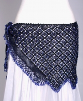 Belly dance fully crocheated beaded belt