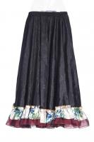Belly dance gypsy tribal skirt - black with oriental ruffles