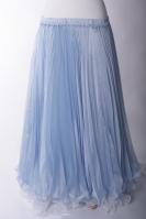 Belly dance pleated skirt - Powder Blue