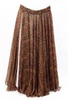 Belly dance fine silk chiffon skirt - Feral Feline